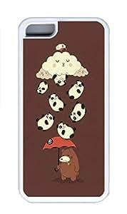 iPhone 5C Case, Personalized Custom Rubber TPU White Case for iphone 5C - Iphone Panda Cover