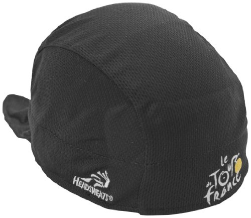 - Headsweats Tour de France Performance Shorty Cycling Skull Cap, Black