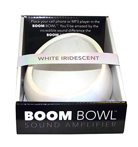 Boom Bowl Smartphone Sound Amplifier (White Iridescent)