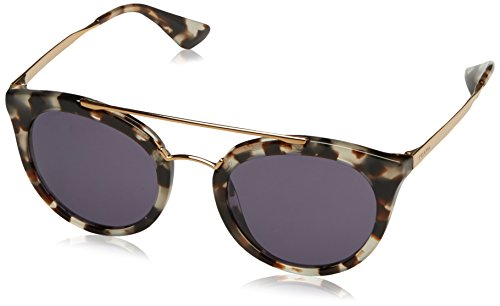 Prada Women's Round Aviator Sunglasses, White Havana/Violet, One - White Prada Sunglasses