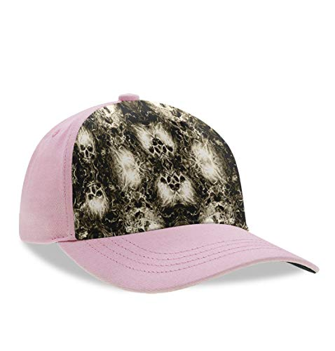 Flaming Clouds Skulls Dad Baseball Cap Kid's Dad Hat Trucker Hat Adjustable Snap Casquette Cap, Breathable Moisture Wicking Ball Cap Casual Hip Pop Snapback Hat Cap