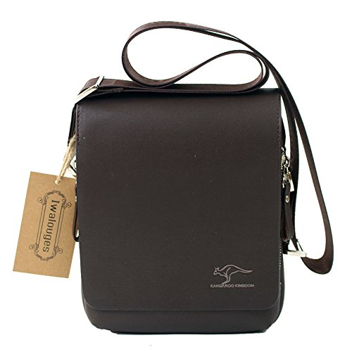 Men's Genuine Leather/pu Authentic Kangaroo Kingdom Shoulder Bag Messenger Bags (Brown)
