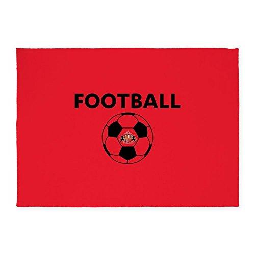 CafePress - Sunderland Soccer Ball- Full Bleed - Decorative Area Rug, 5'x7' Throw Rug by CafePress