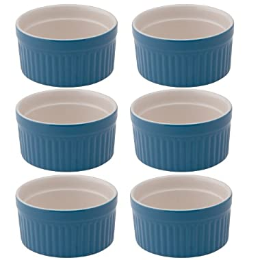 Mrs. Anderson's Baking Ceramic 2-Ounce Ramekin, Set of 6, Bayberry Blue