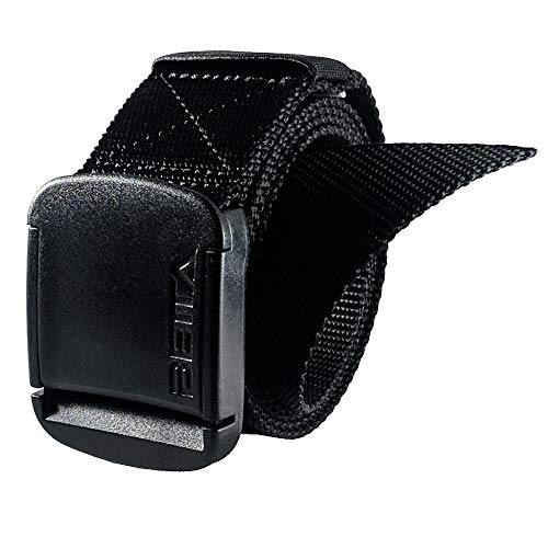- 1.5 Inch Wide Men's Nylon Web Belt with High-Strength Adjustable Buckle (XXX-Large, Black)