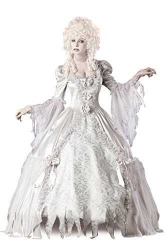 InCharacter Costumes Corpse Countess Costume, White, Medium