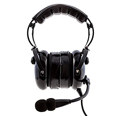 KORE AVIATION KA-1 Premium Gel Ear Seal PNR Pilot Aviation Headset with MP3 Support and Carrying Case by KORE HEADSET
