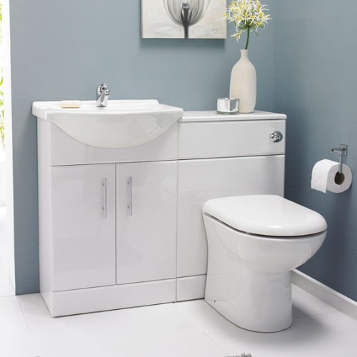 VeeBath Linx 1050mm Bathroom Cabinet Combination Set - Vanity Bathroom Furniture Set Perfect For Enhancing The Look Of All Bathrooms, Providing Great Storage & Quality, At A Fraction Prices