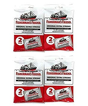 Fisherman's Friend Original Extra Strong Cough Suppressant Lozenges, 40-Count Bags (4 Sets) - Cough Suppressant