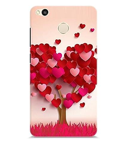 online store 22b11 99f57 chiraiyaa Premium Design Heart Tree Boy Girl Friend Valentine Miss Kiss  Nature Printed Designer Back Case Cover for Xiaomi Mi Redmi 4(Multicolour)