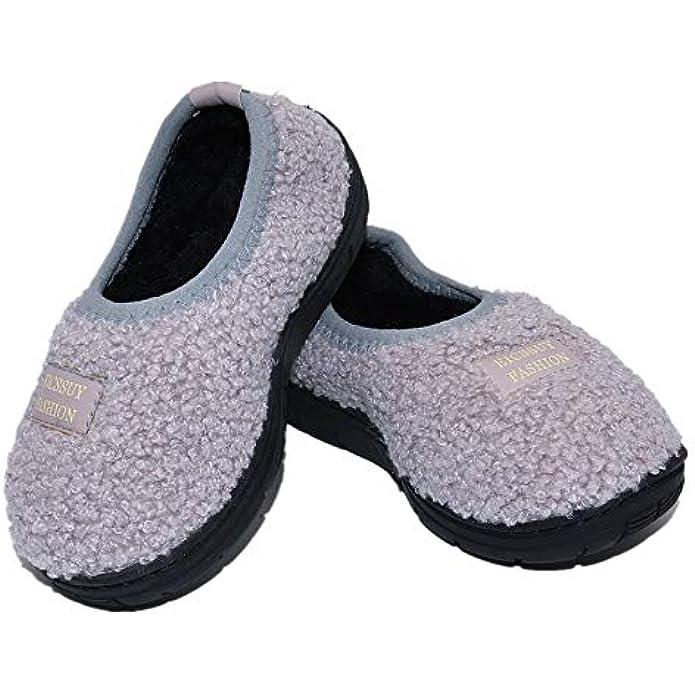 Toddler Slippers for Boys & Girls Little Kids House Slippers Warm Fur Home Slipper