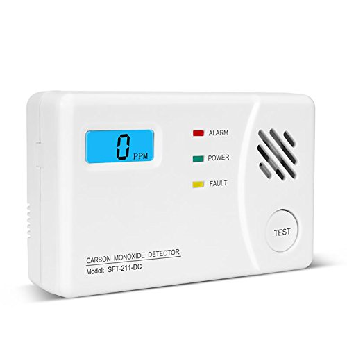 Carbon Monoxide Detector Alarm with Digital Display for Home, Travel Portable Battery Operated CO Sensor Alarm/Monitor by Lecoolife