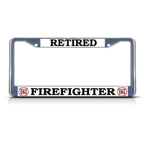 license plate frame firefighter - 4