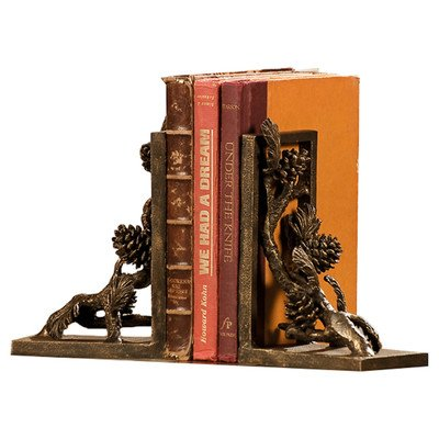 Pinecone Bookends Pair