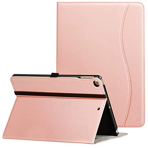 New IPad 9.7 Inch 2018/2017 Case, Ztotop Premium PU Leather Business Slim Folding Stand Folio Cover with Auto Wake/Sleep,Pencil Holder and Multiple Viewing Angles,Rose Gold
