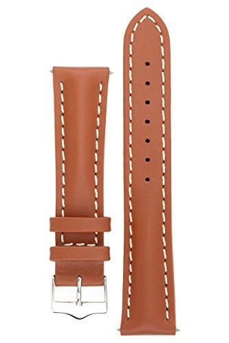 Signature Racing Wood 20 mm watch band. Replacement watch strap. Genuine Leather. Silver buckle by Signature (Image #6)