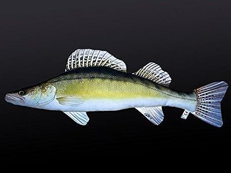 Gaby Cojín Pescado lucioperca 77 cm Manta Peces kuscheltie ...