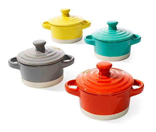 Creative Co-op Round Stoneware Mini Baker