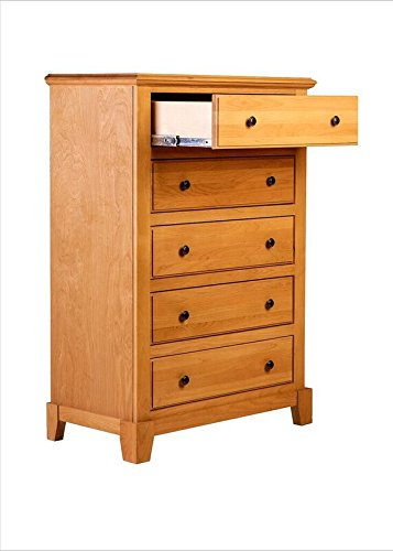 Forest Designs FD-B3051B- SN-AA Shaker Five Drawer Dresser, 34