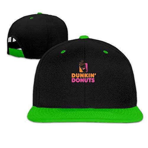 Dunkin Donuts Unisex Hip-Hop Baseball Cap Adorable Sun Caps Fishing Hat Green ()