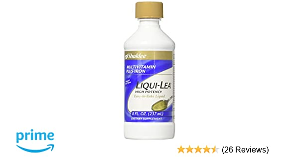 Amazon.com: Shaklee Liqui-Lea Plus Iron 8 fl. oz.: Health & Personal Care