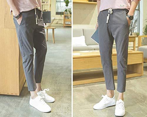 Style Pour Hommes Et Pantalons Lin Décontractés Plage Grau Respirant Simple Nvfshreu En De Léger 1A0gw