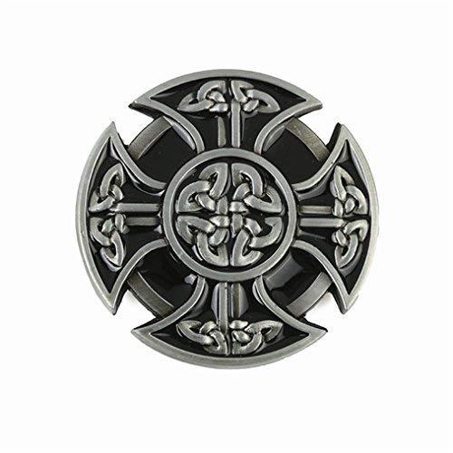 MASOP Heavy Celtic Cross Knot Men's Belt Buckle Metal For 1.5inch Wide Belt