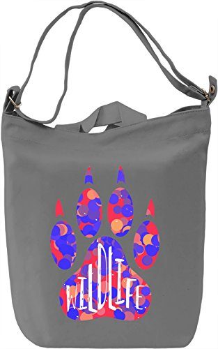Wild LIfe Borsa Giornaliera Canvas Canvas Day Bag| 100% Premium Cotton Canvas| DTG Printing|