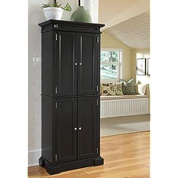 Home Styles 5004 694 Americana Pantry Storage Cabinet Black Finish Kitchen Dining