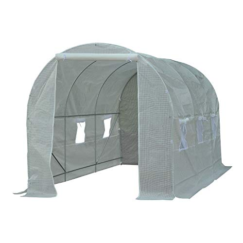 6 Size Walk-in Greenhouse Polly Tunnel Patio Garden Outdoor Polytunnel Frame
