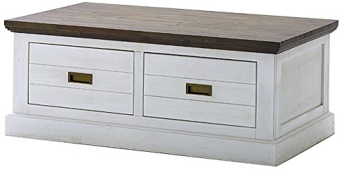 Robas Lund Aw800t34 Gomera Couchtisch Massivholz Akazie Weiß