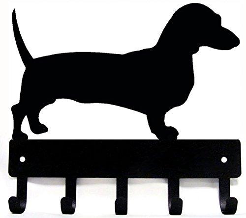 Dachshund Leash Hook - The Metal Peddler Dachshund Key Rack Dog Leash Hanger Large 9 inch Wide