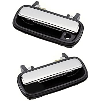Pair For 1989-95 Toyota Pickup 4Runner Chrome Outer Front Left Door Handles