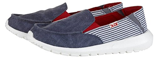 Red Slipons Hey Shoes Canvas Womens Ava Stripe Navy Dude wwzpq1tB