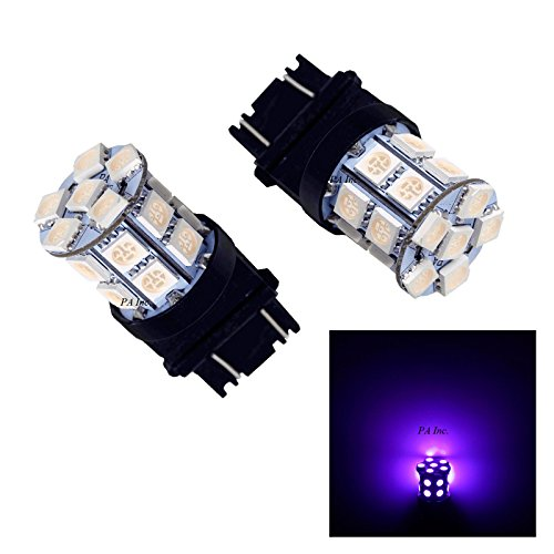 PA 2pcs 3157 3457A 3156 20 SMD LED Auto Stop Light/Back Light/Side Marker Light/Tail Light/Turn Signal Light Bulbs Purple-12V