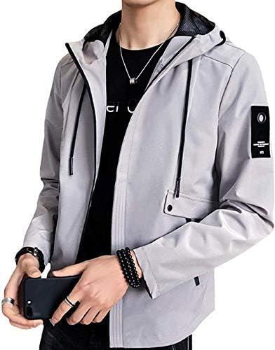 ジャケット メンズ 秋冬 コート ジャケット アウター ブルゾン フード付き 長袖 無地 カジュアル ビジネス 防風防寒 おしゃれ ウインドブレーカー おおきいサイズ