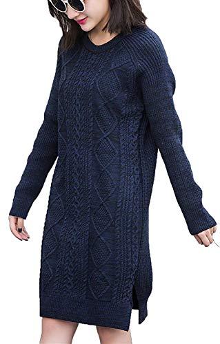 Fashion Fashion Fashion Lunga Lunghe Autunno Autunno Autunno Autunno Pullover Blu Betrothales Elegante Felpe Invernali Cash qF4wEwvx5