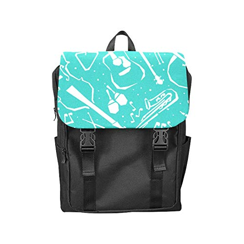 Flap Backpack Picking Design Ideas Hand Draw Printing Flip Cover Laptop Backpack Storage Bookbags College Backpack for Adult Student Men ()