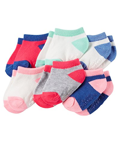Carter's Baby-Girls Socks, Color, 3-12 Months (Pack of 6)