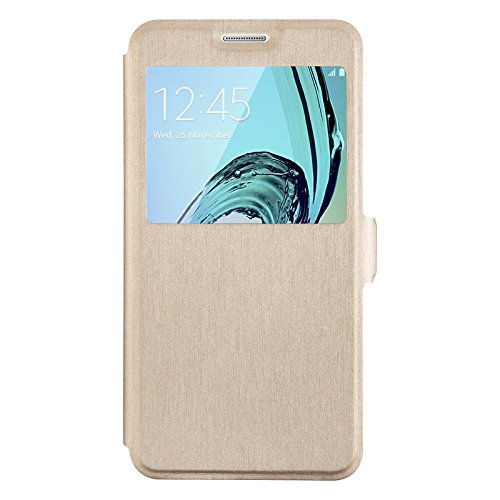 S-View Flip Cover for Samsung Galaxy A5 (Gold) - 5