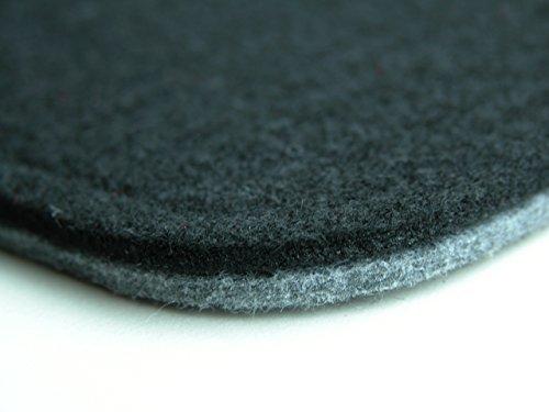Filzkissen,Stuhlauflage,Sitzauflage,Stadionkissen (grau/schwarz)