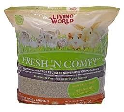 Living World Fresh \'N Comfy Pet Bedding, 3050-Cubic Inch, Tan