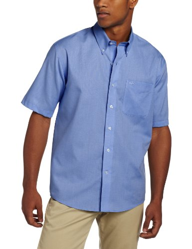 Cutter & Buck Men's Short Sleeve Epic Easy Care Nailshead Shirt, French Blue, 3X-Large