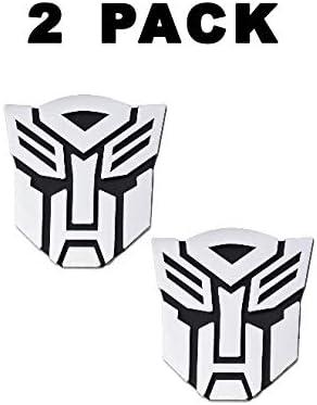 5 Tall Transformer Autobot Chrome Finish Auto Emblem