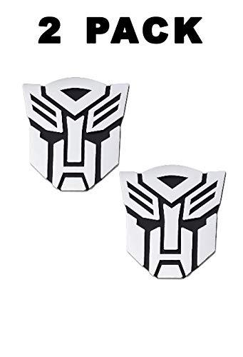Сar Accessories Chrome Finish PVC Autobot Emblem Gift Box Transformers Autobot Emblem Sticker for Cars 2pcs in Set 3 Tall