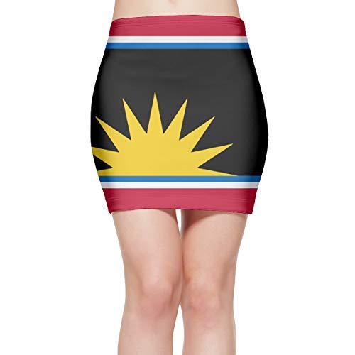 North Korea'fied Flag Engraved Tight Mini Skirt Comfortable Dress Elastic Short Skirt
