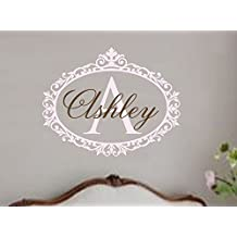 Customer-made Cartoon Wall Decal Baby and Girl Nursery Name Vinyl Shabby Chic Art Sticker Vinyl -You Choose Name and Color