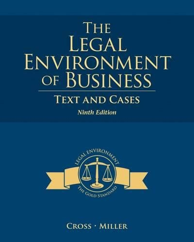 The Legal Environment of Business: Text and - Frank Paul Store Online