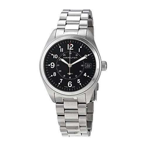 Hamilton Mens Quartz - Hamilton Men's 'Khaki Field' Swiss Quartz Stainless Steel Casual Watch (Model: H68551933)
