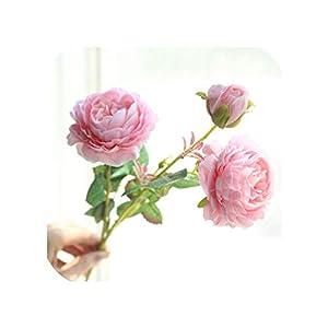 3 Heads Artificial Rose Silk Flower Wedding Bouquet Home Wedding Holding Flowers Party Flower Garden Decoration DIY Flower Wall 14